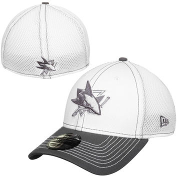 San Jose Sharks New Era Two-Tone Neo 39THIRTY Flex Hat – White/Gray