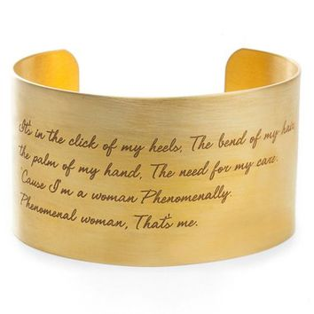 Dogeared 'Legacy Collection - Phenomenal Women' Wrist Cuff | Nordstrom