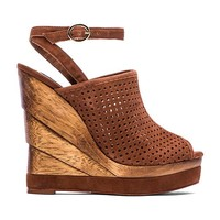 Diane von Furstenberg Paris Wedge in Brown