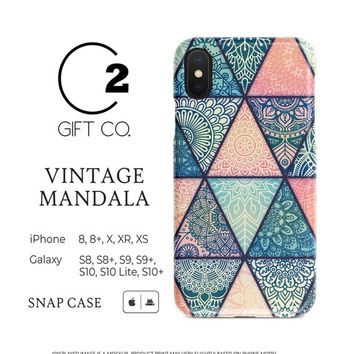 Vintage Mandala - Premium Slim Snap Phone Case Cover For Iphone X, Xr, Xs, 8, 8+ & Samsung Galaxy S10, S10+, S9, S9+, S8, S8+