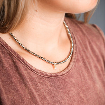 The Forrester Choker, Pewter Spike | BPD