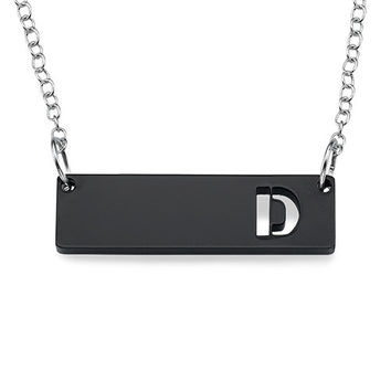 Pop Initial Bar Necklace