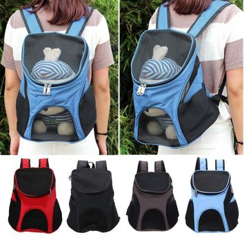 Front Bag Head Out Mesh Dogs Backpack