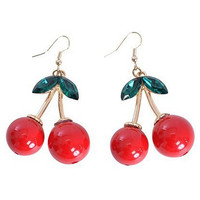Crystal Detail Cherry Earring
