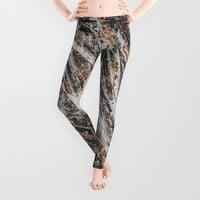 Copper Ore painting Leggings by BruceStanfieldArtistPainter