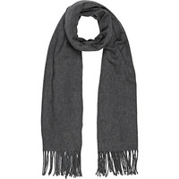 River Island Womens Grey supersoft blanket scarf