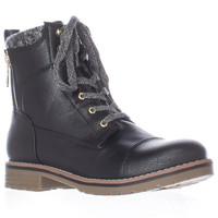 Tommy Hilfiger Omar2 Knit Top Combat Boots - Black Multi
