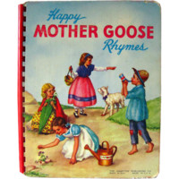 Happy Mother Goose Rhymes - Nursery Books - Childrens Books - Nursery Rhymes - Board Book - Kids Rhymes - Baby Rhymes