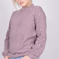 Lavender Pearl Sweater
