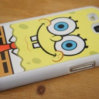 White Fame-SpongeBob SquarePants Design Samsung Galaxy s3 i9300 Case/Cover Hard plastic and metal