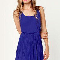 LULUS Exclusive Re-pleat After Me Royal Blue Dress