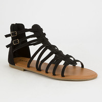 BAMBOO Strappy Back Zip Womens Gladiator Sandals | Sandals