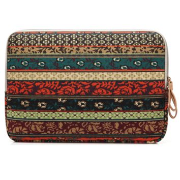 "Ethnic Sytle Notebook Pouch Fabric Sleeve Bag Case for Macbook Laptop  10"" 11"" 12""13"" 14"" 15.6"""