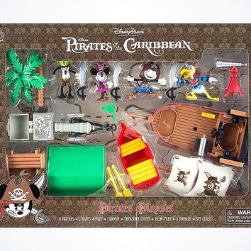 Disney Parks Mickey & Friends Pirates of Caribbean Play Set New with Box