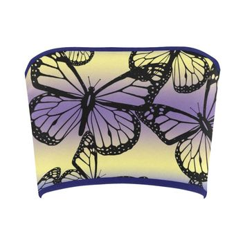 Butterfly Design 1 Bandeau Top