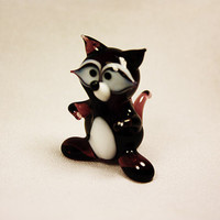 Glass badger art glass home decor glass badger fused glass badger ornament art glass fused glass badger murano glass handmade(084)