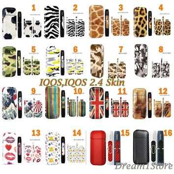 16 Pattern 3M Adhesive Printing Label Sticker Skin for IQOS IQOS 2.4 Plus Universal Cover