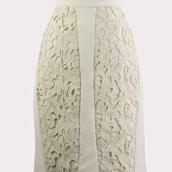 Vanilla Latte Lace Skirt