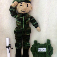 CROCHET PATTERN Only - Army Amis - Boy & Girl Military Soldier Amigurumi Crochet Keepsake Dolls - Toy or Gift for Child or Adult