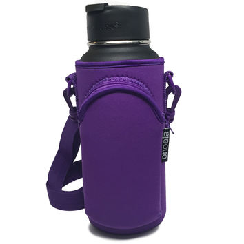 Onoola 32oz Purple Neoprene Pocket Carrier for Hydro Flask Type Bottles