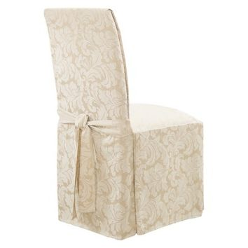 Sure Fit Scroll Long Dining Room Chair Slipcovers