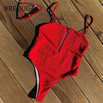 Xiana One Piece Ribbed Swimsuit