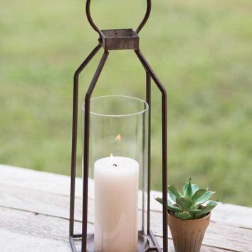 Large Greenville Pillar Candle Lantern