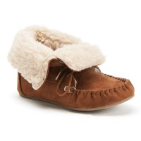Faux-Fur Moccasin Ankle Boots