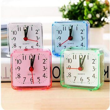 Vintage Fine Square Bed Compact Travel Desktop Alarm Clock Outdoor Table Creative Gift High Quality