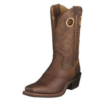 Ariat Men's Heritage Roughstock Boots - Brown Oiled Rowdy - 10002227
