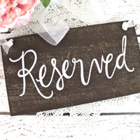 Wooden Reserved Wedding Signs - Rustic Weddings - (WD-16)