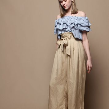 Astr The Label Deema Cropped Pant - Cappuccino