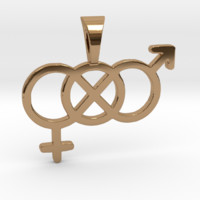 Gender Fluid Symbol Pendant by SandyP on Shapeways