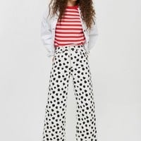 MOTO Spotty Cropped Wide Leg Jeans - Shop All Jeans - Jeans