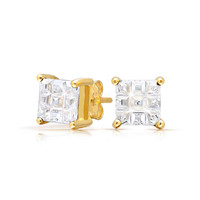 Bling Jewelry Magically Cut Studs