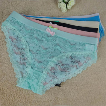 Hollow Out Lace Transparent Sexy Ladies Underwear