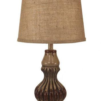 Beautiful Ribbed Genie Accent Pot Table Lamp