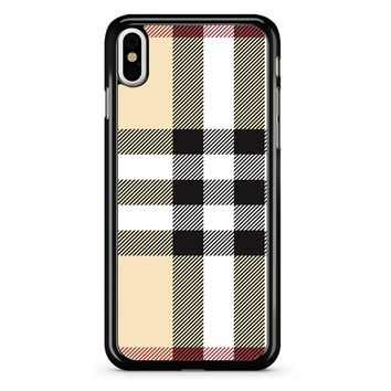 Burberry Pattern iPhone X Case
