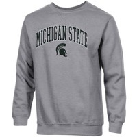 Michigan State Spartans Basic Crew Neck Sweatshirt - Ash