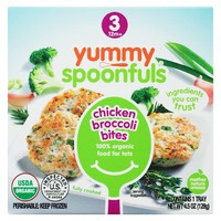 Yummy Spoonfuls Organic Stage 3 Chicken & Broccoli Bites Baby Food for Tots 4.5 oz