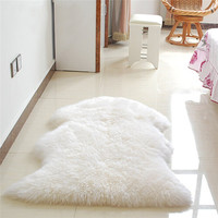 Hairy Carpet Sheepskin Chair Cover Bedroom faux fur Rug Pad Skin Fur Plain Fluffy Area Rugs Washable Artificial Textile tapetes