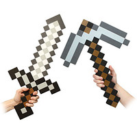 Minecraft Foam Sword and Pickaxe