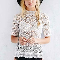 Cooperative Crochet Swing Top- White
