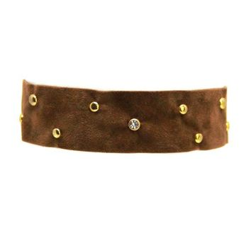 Soft Stud Choker in Brown