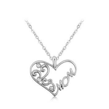 CREYUG3 Stylish New Arrival Gift Shiny Jewelry Simple Design Accessory Alphabet Necklace With Thanksgiving&Christmas Gift Box [9571982735]