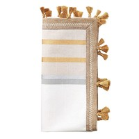 Jaipur Napkin in White, Silver, and Gold - Set of 4