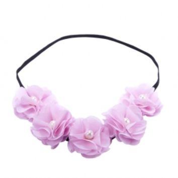 Flower & Pearl Headwrap | Girls Headbands & Wraps Hair Accessories | Shop Justice
