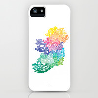 Typographic Ireland iPhone & iPod Case by CAPow!