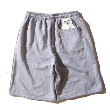 RIPNDIP Middle Finger Pocket Cat Shorts
