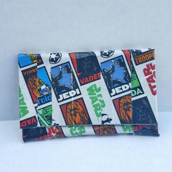 Star Wars Duct Tape Wallet - Coin Purse - Pouch - Card Holder with Velcro
